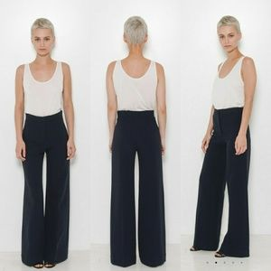 Helmut Lang High waisted wide leg trousers size 6